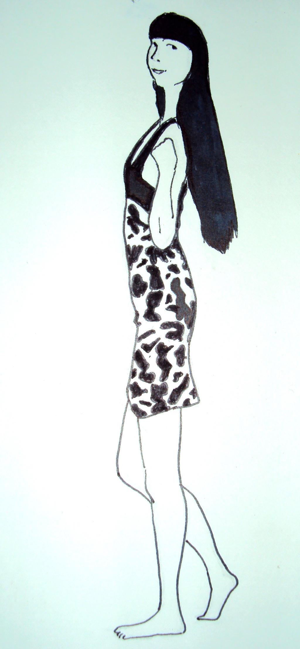 Birthday Dress sketch  by Aestrolines