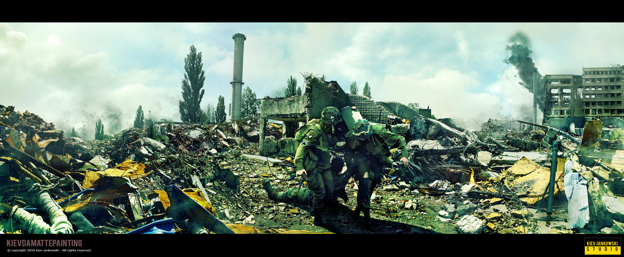 Airborne Soldier Hit By Sniper by kievda