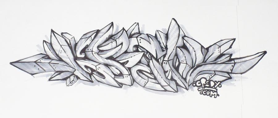 Graffiti Sketch 3D TUTORIAL by KreDy on DeviantArt