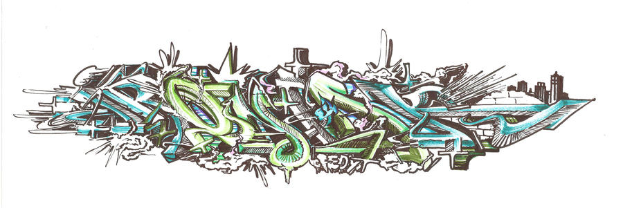 Ironlak Graffiti Wallpaper