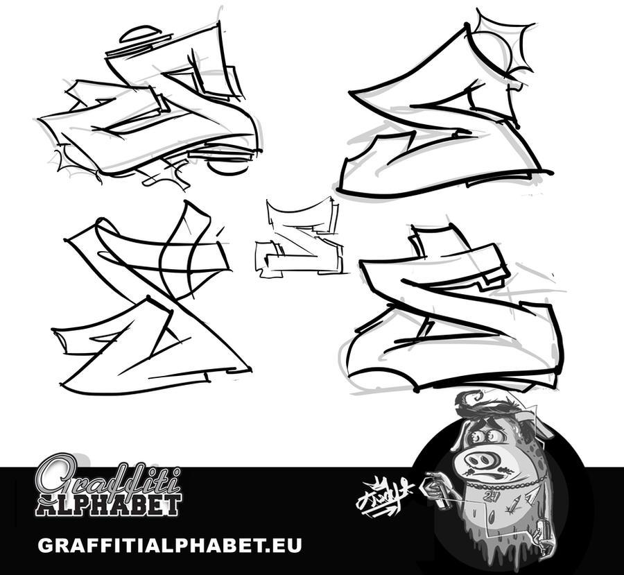 KreDy s DeviantArt Gallery  S In Graffiti Letters