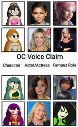 OC  Voice claims 4