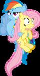 Dashie's Hoofheld Fluttershy