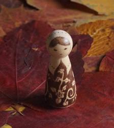 Folk Love - Wooden Burned Doll by aksinia