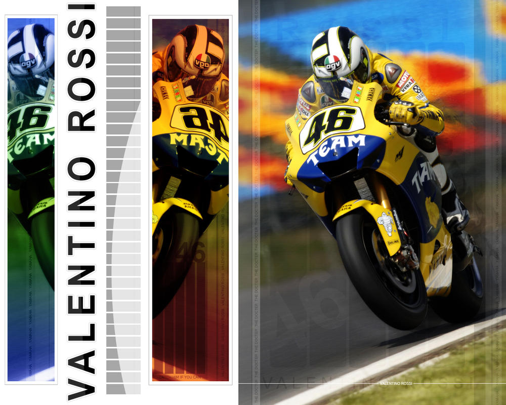 Valentino Rossi Wallpaper by Shifty24