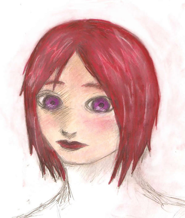 I have Red Hair + Purple Eyes by topincrasia on DeviantArt