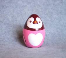 Pink Penguin Figurine by KazFoxsen