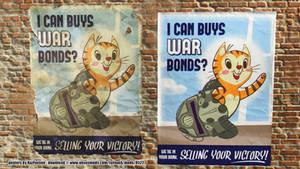 Fallout War Bond LOL Cat Poster