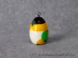 Commission: Custom Black-Headed Parrot Ornament
