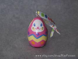 Custom Easter Egg Bunny Ornament or Figurine