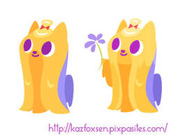 Kawaii Dog Minimalist Long-Haired Yorkie Designs by KazFoxsen