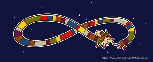 Fourth Doctor Scarf Dog Dachshund by KazFoxsen