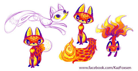 Fox Sketches by KazFoxsen