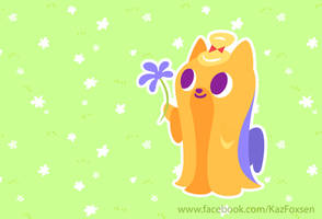 A Flower For You Long-haired Kawaii Yorkie by KazFoxsen