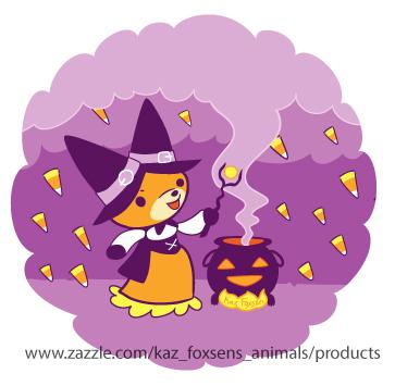 Halloween Fox Witch Summoning Candy by KazFoxsen