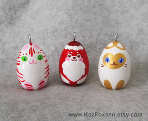 Christmas Cat and Dog Ornaments by KazFoxsen