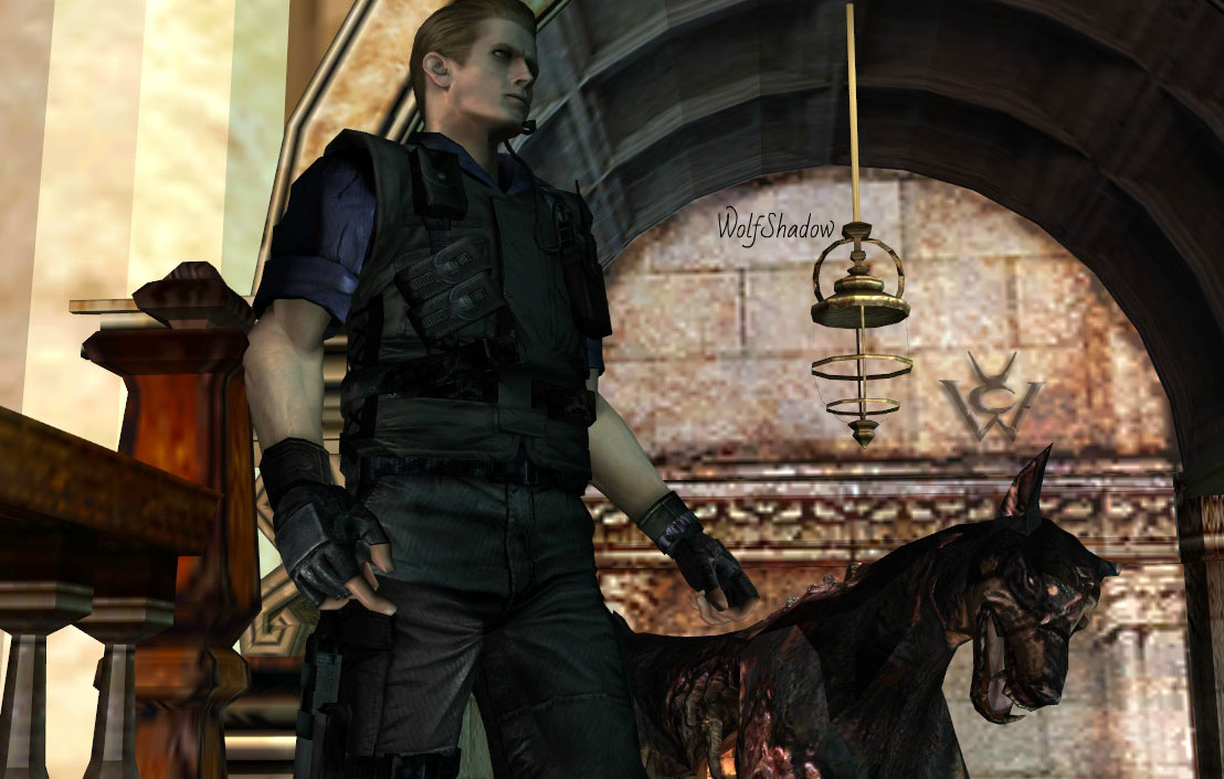 Just Wesker and Dog by WolfShadow14081990