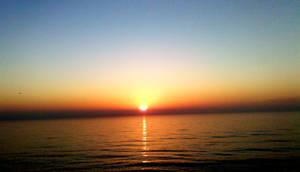 Cloudless sunrise