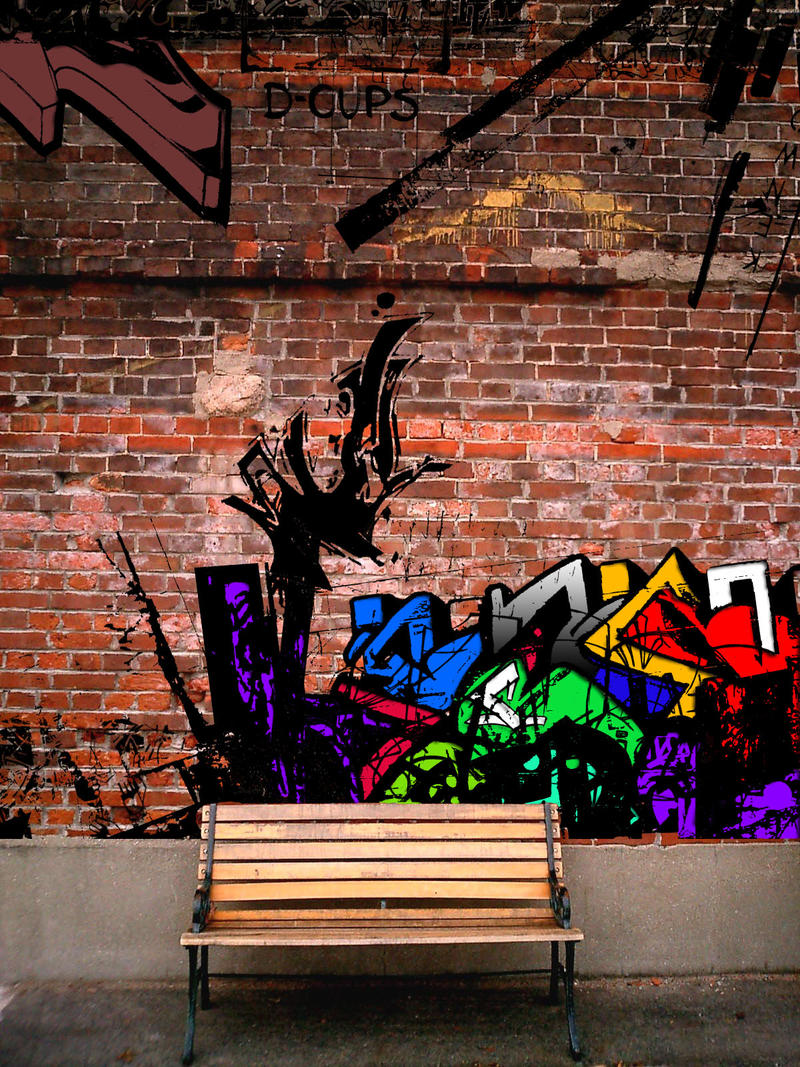 Graffiti On Brick Wall By Tamile On Deviantart