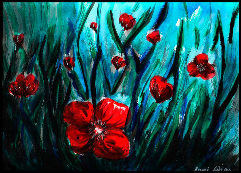 Poppy field by forest-dream