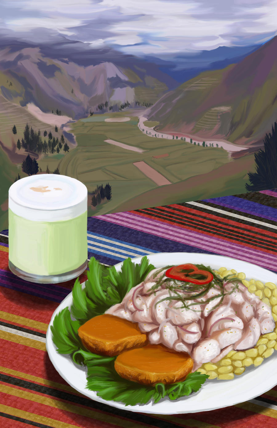 Peruvian cuisine by seandonnanart on deviantart for Abidjan net cuisine 2010