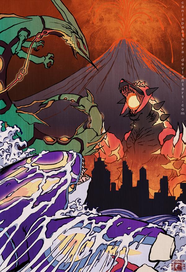 Clash of the Kaiju by CanisPanthera