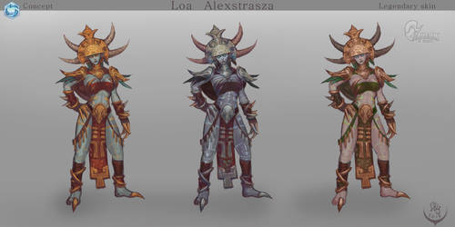 Loa Alextrasza the color of the base form by Elizanel