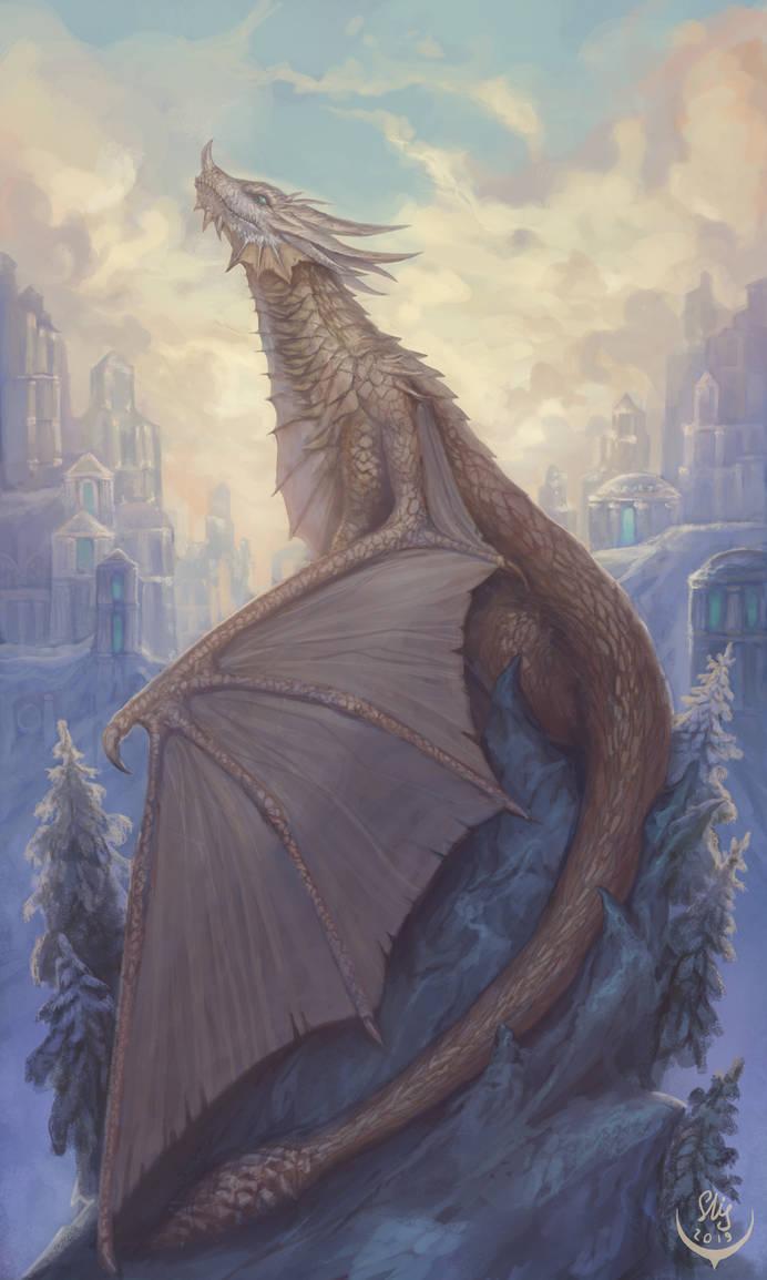 Bronze dragon by Elizanel