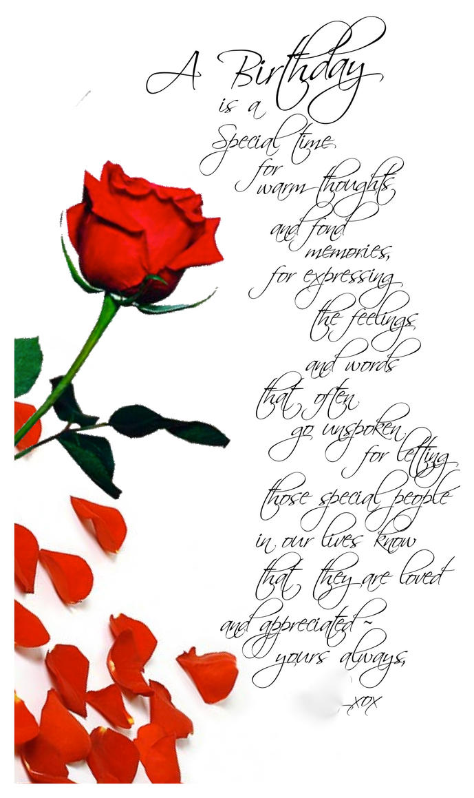 Birthday Card for Loved One by MikeyG8 on DeviantArt – Birthday Greetings to a Loved One