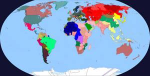World Map February 1943