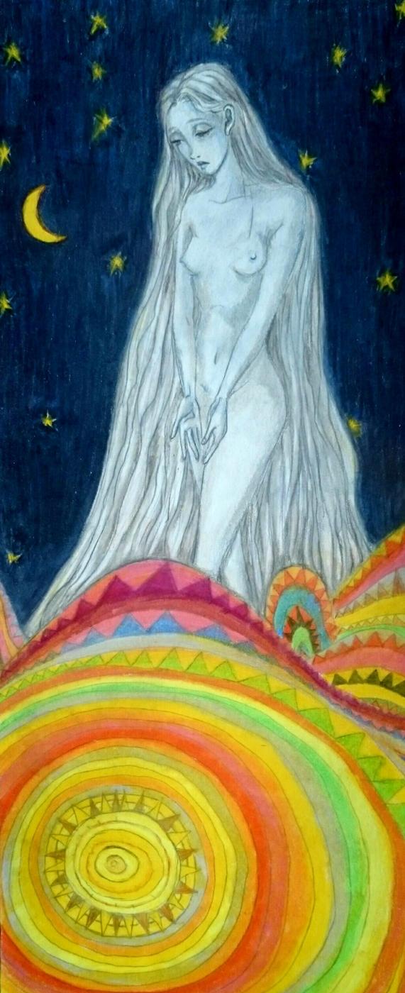 Goddess of the night by tegenaria
