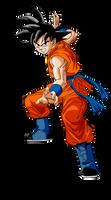 Goku pose de Ataque dbs