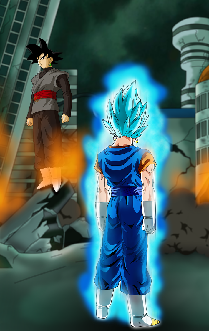 Goku Black Vs Vegetto SsGss The Epic Battle By Jaredsongohan On