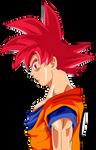 Goku ssj God Face