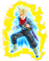 Mirai Trunks Super Saiyajin Ira DBS by jaredsongohan