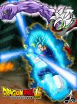 Poster Vegetto ssj blue vs Zamasu (Fusion)