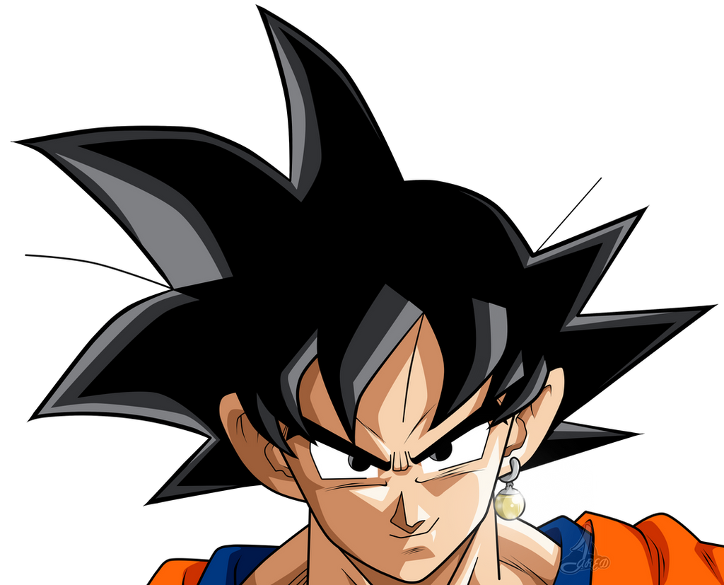 goku face potara dbs by jaredsongohan on deviantart