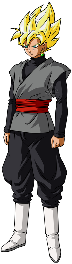 Goku Black ssj Perfil #3 L