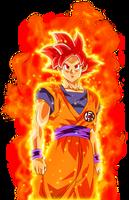 Goku ssj Face Dios  KI by jaredsongohan