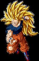 Goku Ssj  Fase 3 Herido Dbs by jaredsongohan