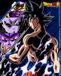 Poster Ultra Instinto Son Goku Versus DBS