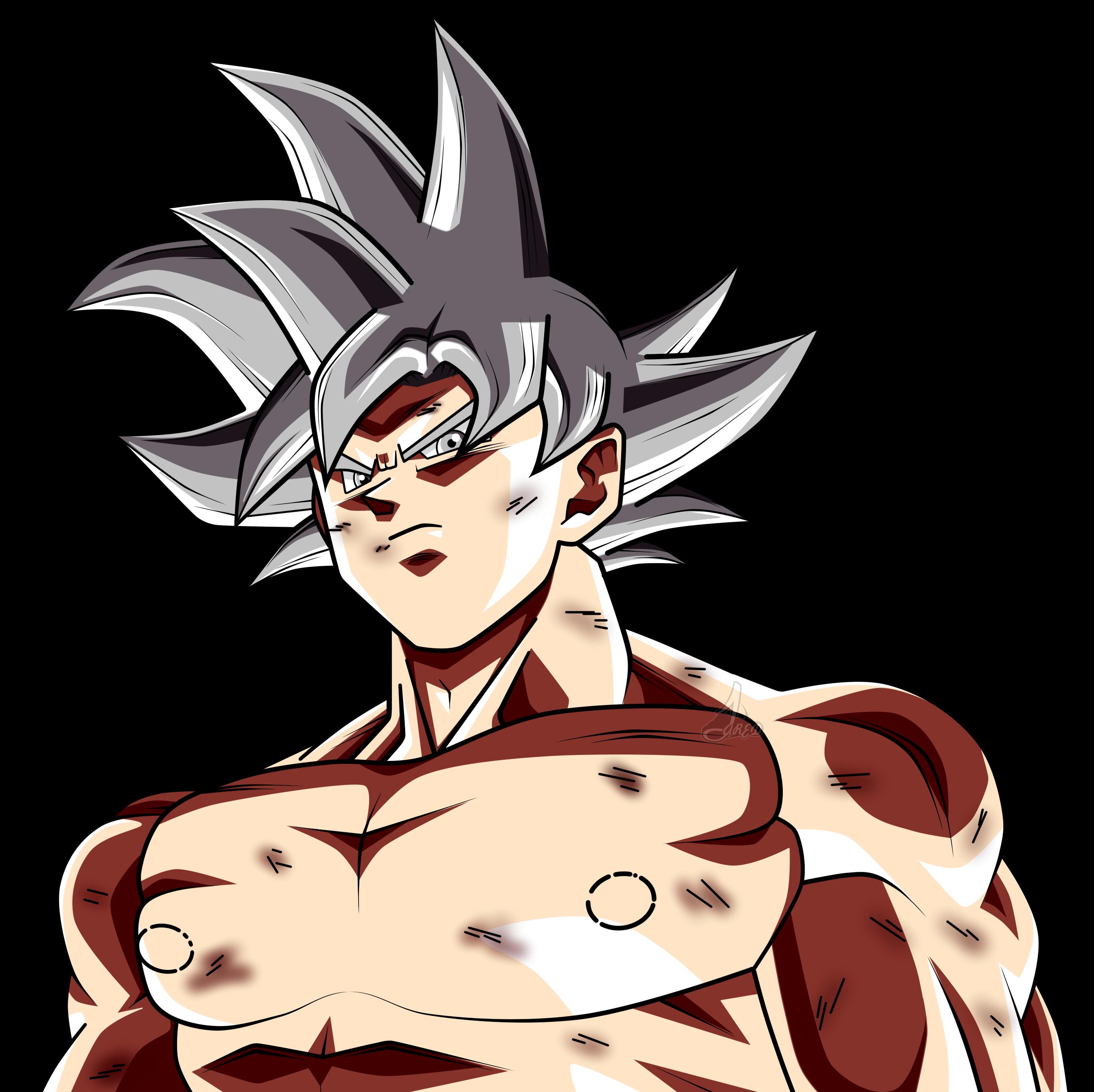 Face Son Goku Ultra Instinto Dominado L By Jaredsongohan