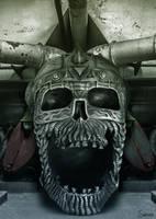 Metal Skull in Factory by Sonicz0r