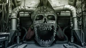 Metal Skull in Factory wallpaper version by Sonicz0r