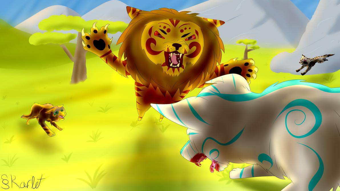 Lion vs Wolves ...