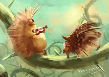 Random words - Porcupine by diogocarneiro