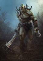 Golark, the Half-Orc by diogocarneiro