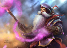 The Dwarf Mage by diogocarneiro