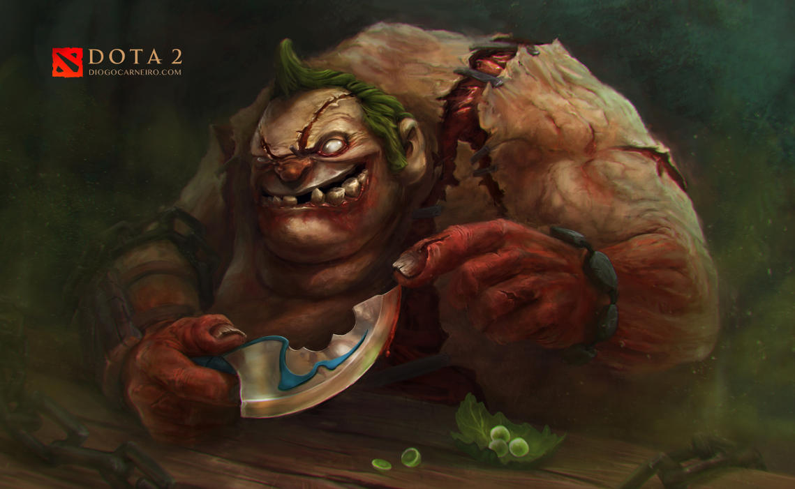 dota 2 fan art pudge s new friend by diogocarneiro on deviantart