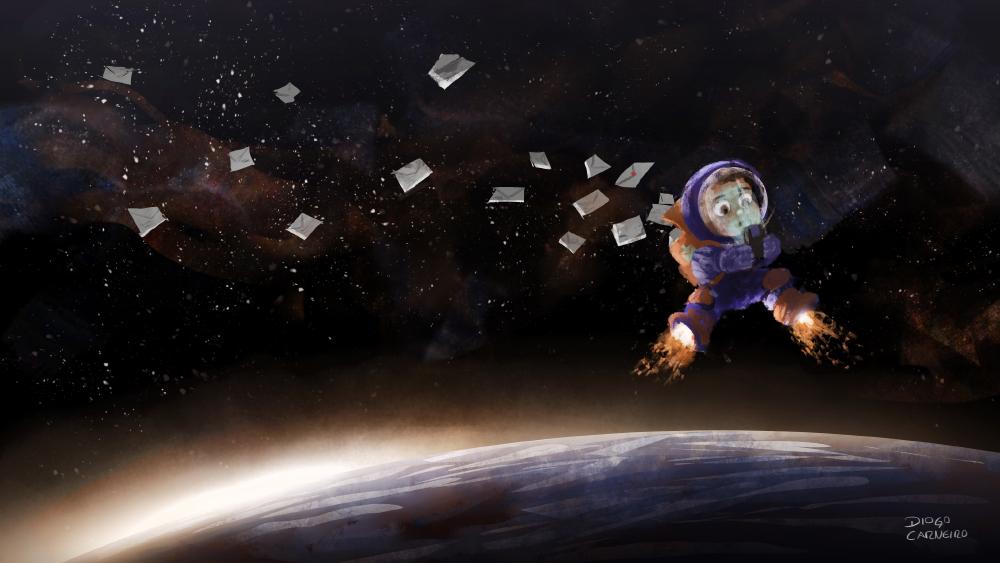 Intergalactic postman by diogocarneiro